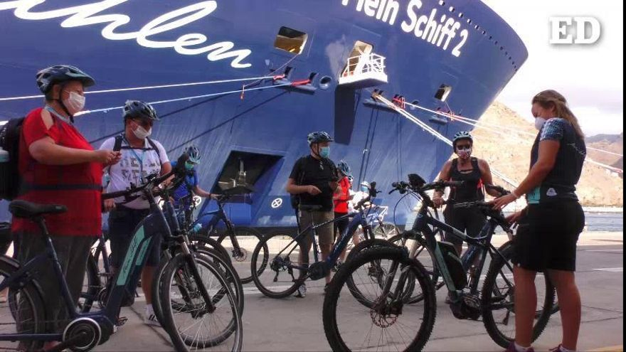 Santa Cruz recibe el primer crucero tras ocho meses de parón por la Covid