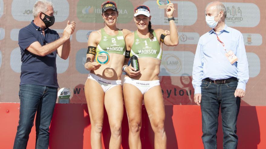 Liliana Fernández y Elsa Baquerizo vencen en el Madison Beach Volley Tour Madrid