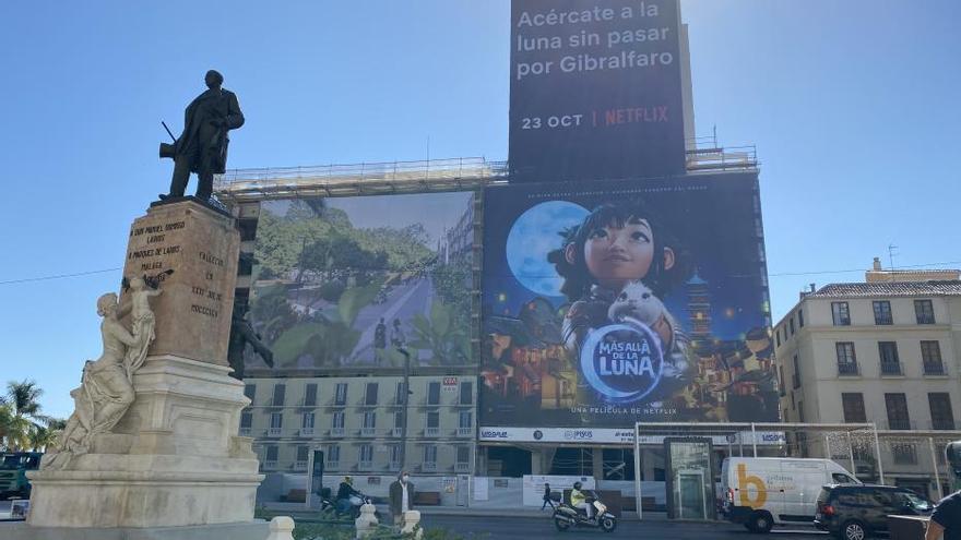 Málaga limitará la publicidad en los andamios