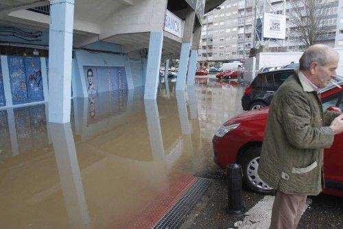 El temporal desborda los ríos de Pontevedra