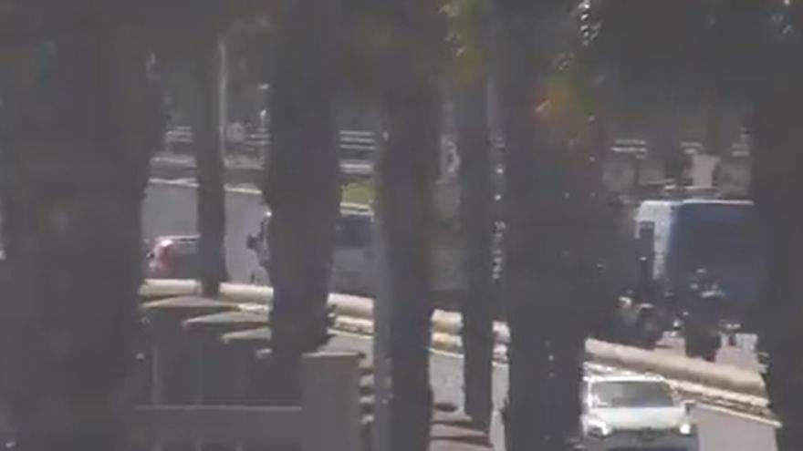 Cuatro coches protagonizan accidente múltiple en la Avenida Marítima