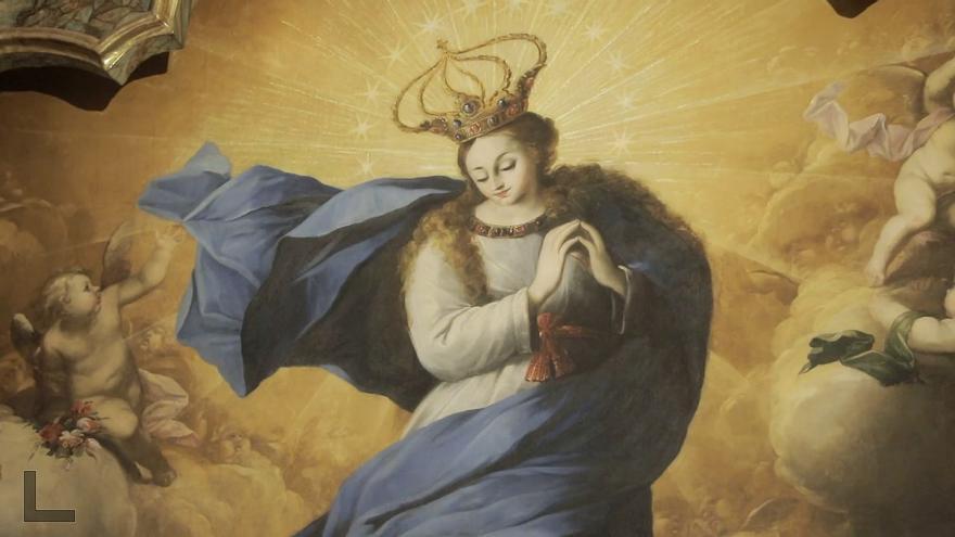 Enigma en el convento de las Caputxines: ¿quién pintó el lienzo del retablo recién restaurado?