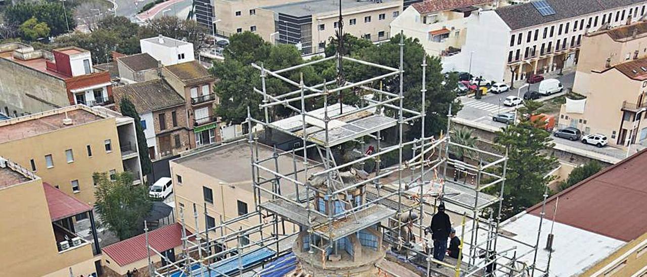 Vista general de los trabajos en la cúpula. | AVAN