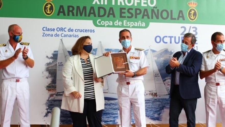 El trofeo de la Armada, para el 'Butxaca', el 'Jícaro' y el 'Lancelot'