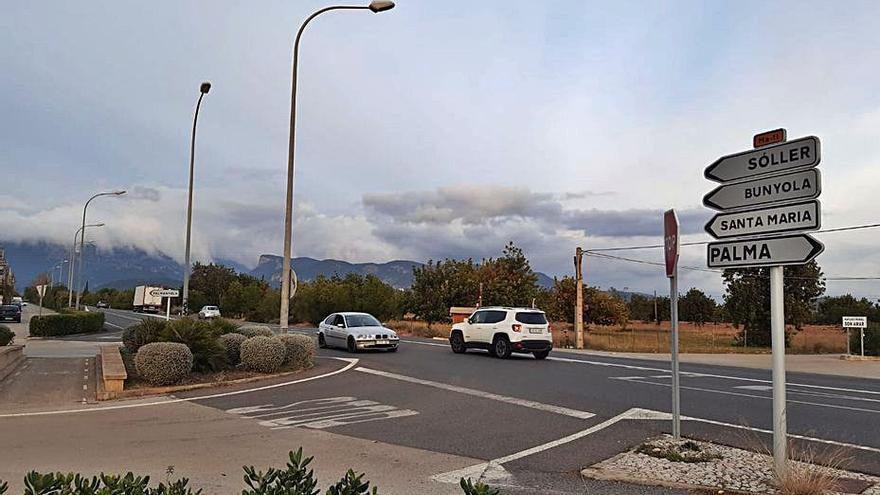 El Consell quiere instalar un semáforo en la carretera de Sóller, frente a Palmanyola