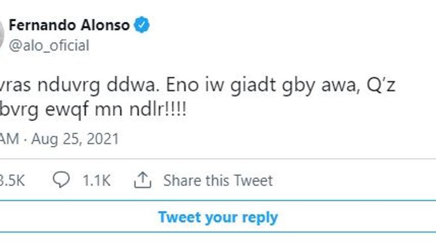 Alonso manda un mensaje encriptado a sus fans