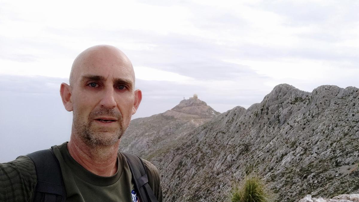 Sandro, en una de sus últimas excursiones por la Serra de Tramuntana.