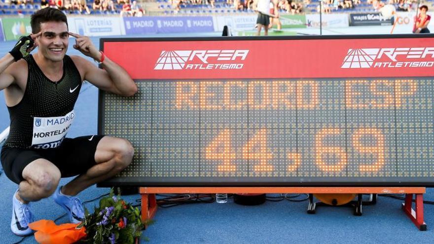 Hortelano pulveriza el récord de España de 400 metros