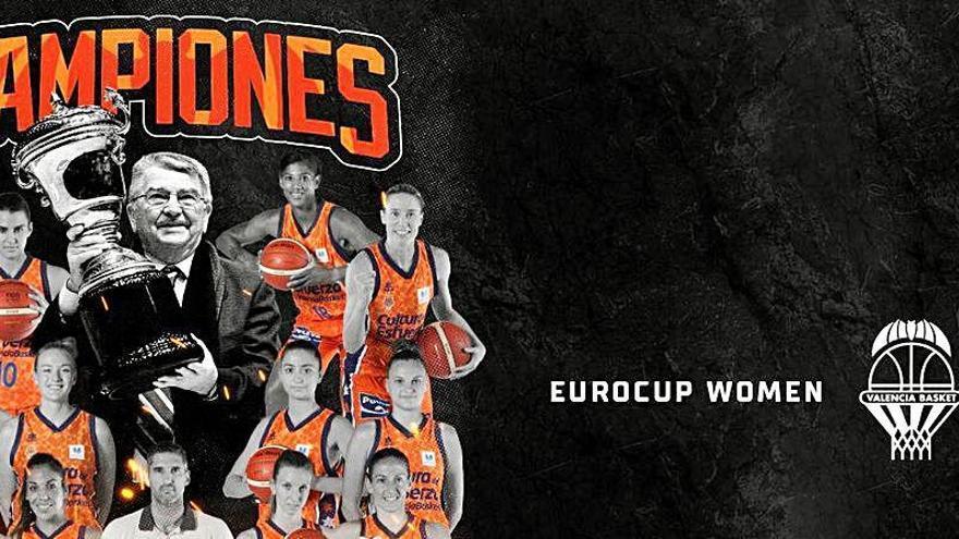 El Valencia Basket celebrará este martes el título de campeonas de la Eurocup