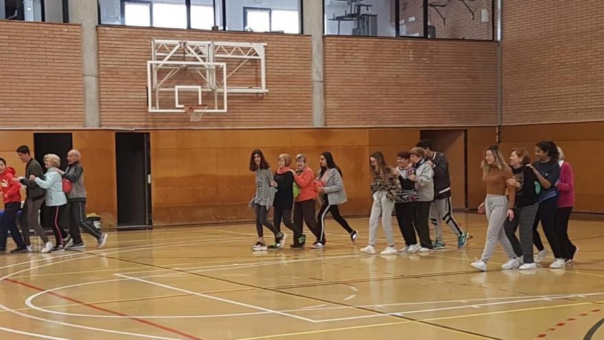 Alumnes d'El Bruel dissenyen un programa d'activitat física per a la gent gran del poble