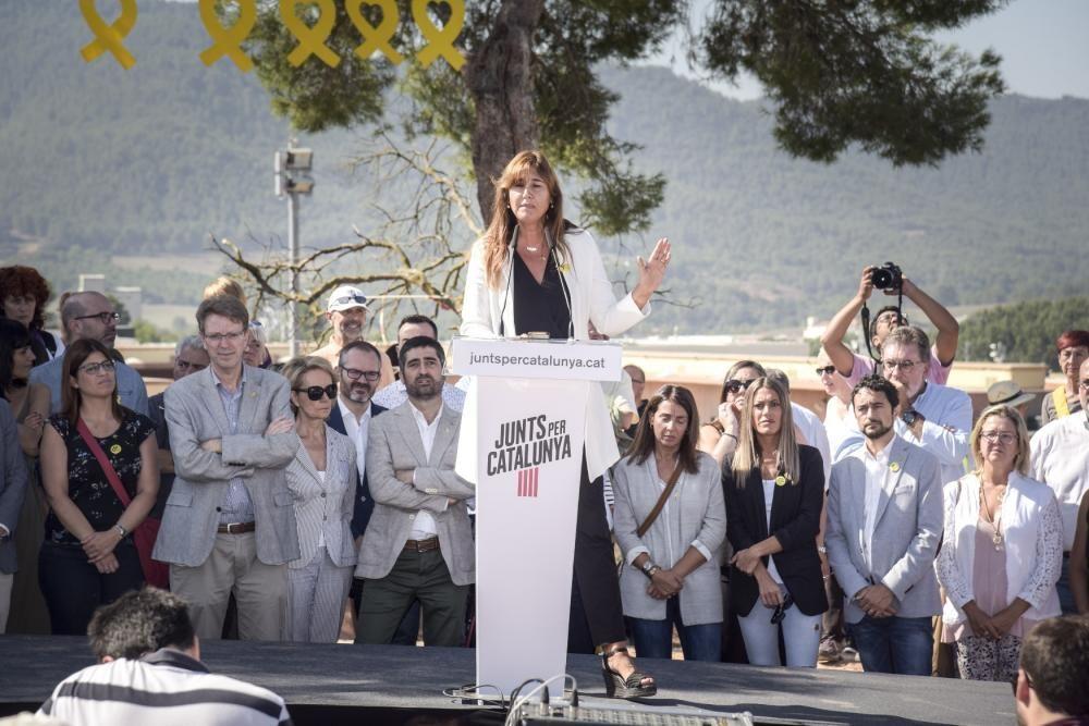 Acte institucional de Junts per Catalunya a Lledon