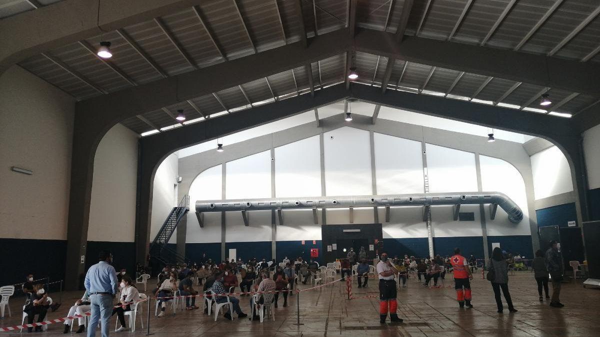 Jornada de vacunación masiva, en las instalaciones de Ifeme.