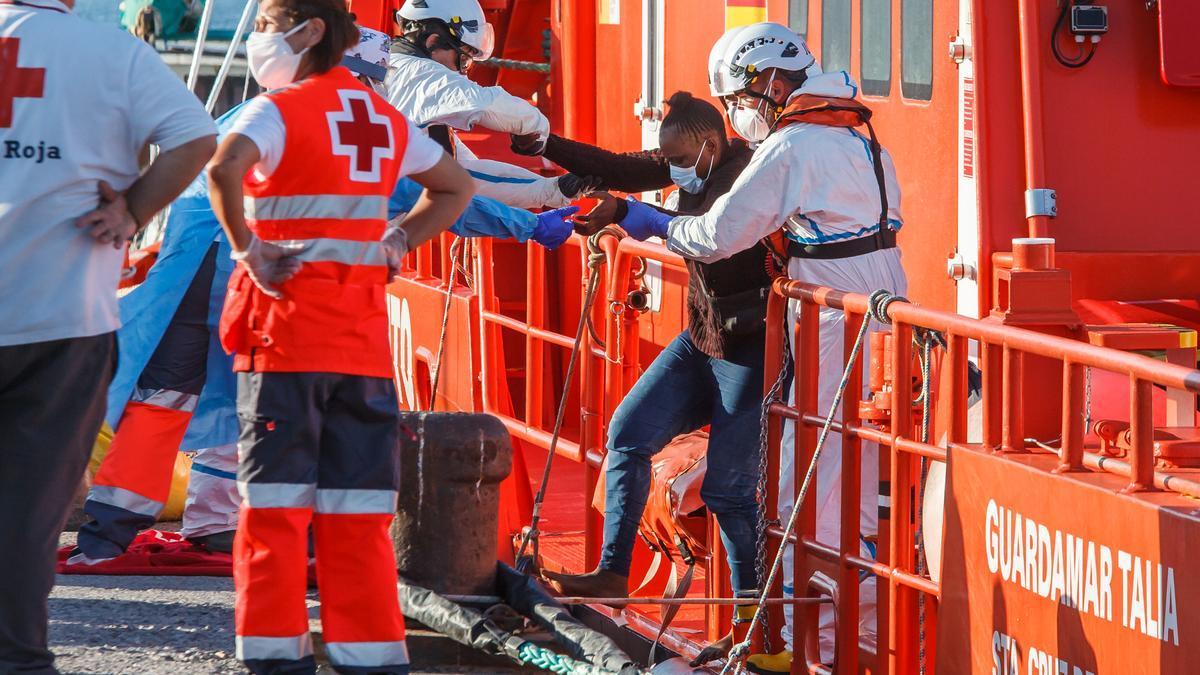 Imagen de archivo de un rescate de Salvamento Marítimo