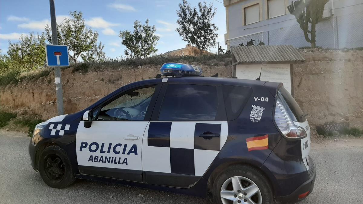 Vehículo de la Policía Local de Abanilla.