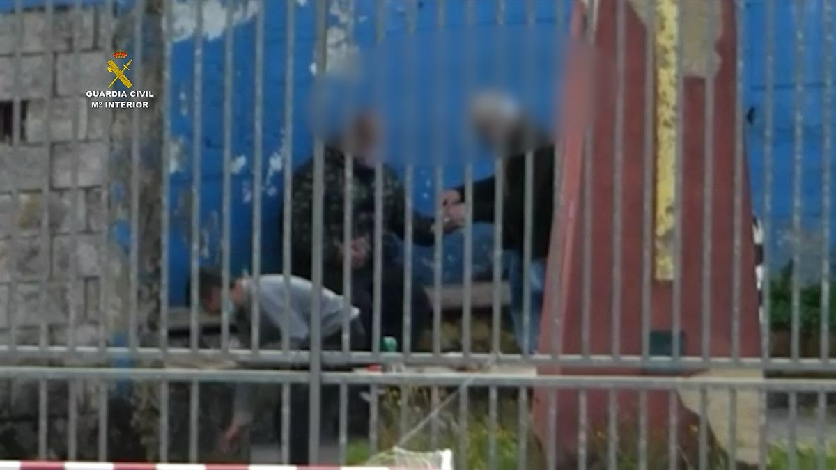 Una imagen de la operación facilitada por la Guardia Civil