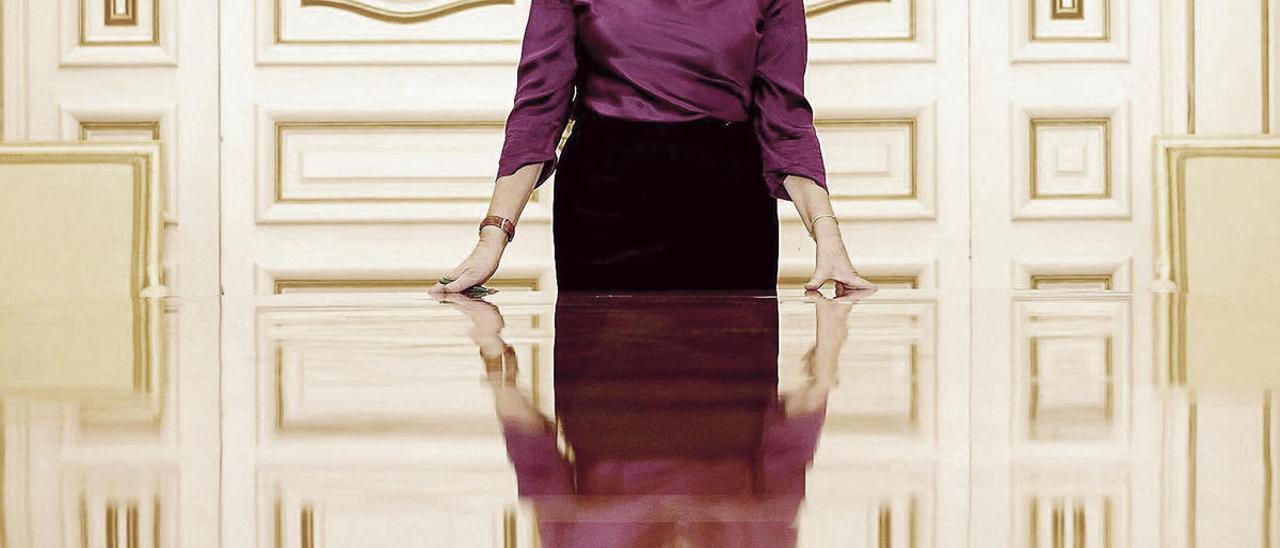 Isabel Celaá, en una de las salas de reuniones del Ministerio de Educación, durante la entrevista.