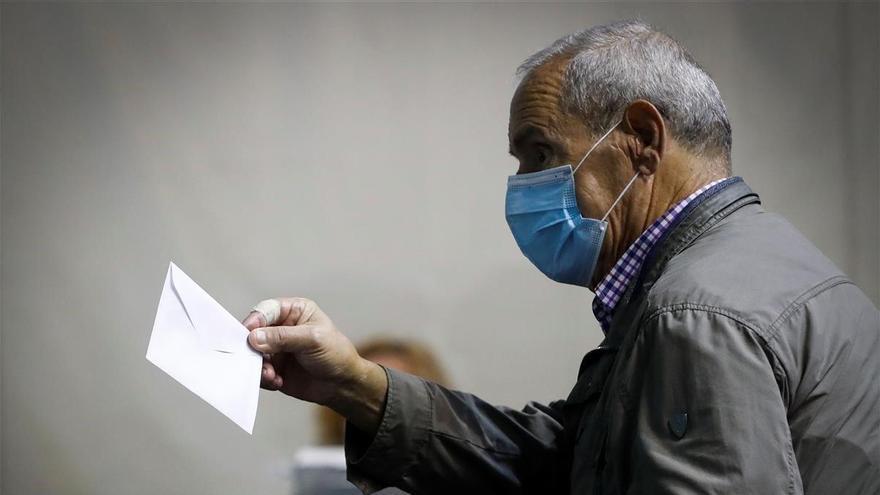 Ordizia vota bajo el virus del temor