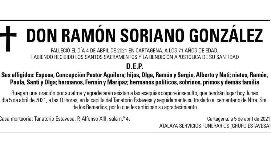 D. Ramón Soriano González