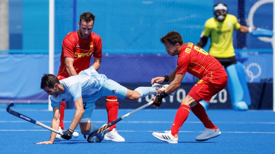 España empata 1-1 ante la vigente campeona olímpica, Argentina
