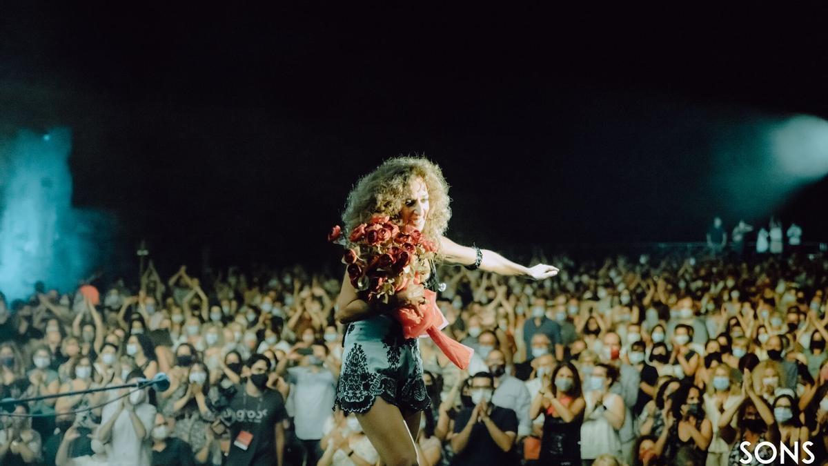 Rosario va emocionar el públic de la Ciutadella de Roses en el segon cap de setmana de Sons del Món.