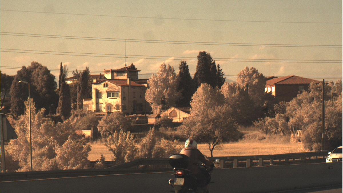 La moto circulant a 193km/h per la C-55, a Manresa