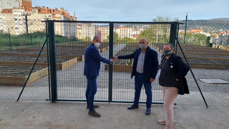Las huertas urbanas de Pontevedra incorporan 19 bancales