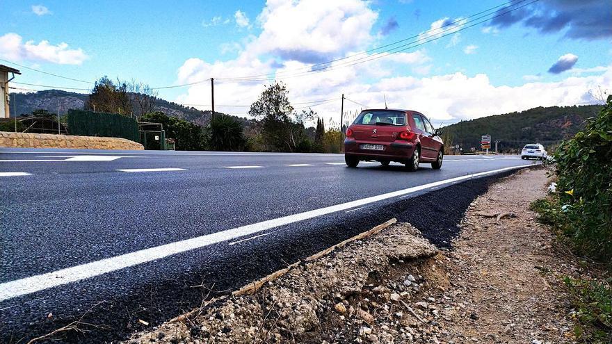 La peligrosidad de la carretera del desvío de Sóller provoca protestas