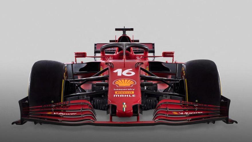 Ferrari presenta su monoplaza con toques verdes