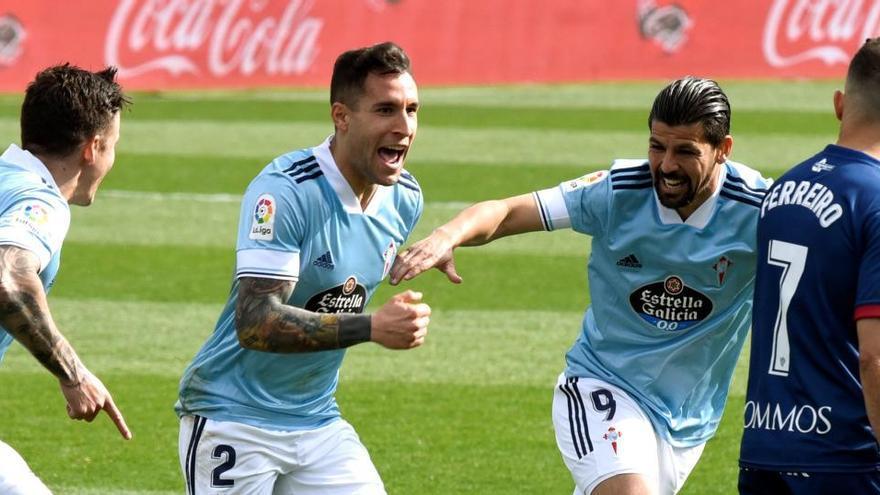 El Celta sale victorioso en un gran espectáculo ante el Huesca