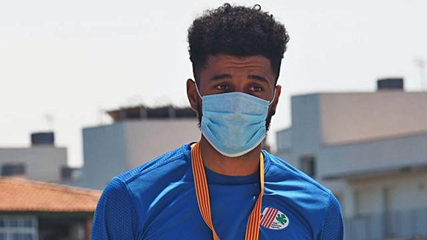 L'atleta El Boussetaoui, medalla d'or al campionat sub23 de Catalunya