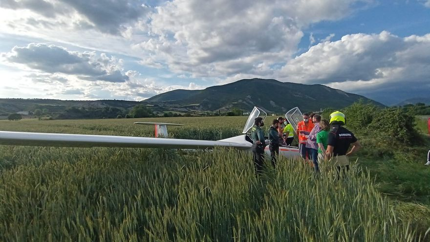 Un ultraligero con dos ocupantes se estrella cerca de Sabiñánigo