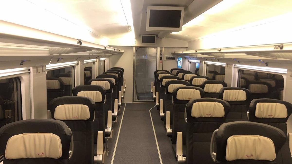 Interior de uno de los trenes.