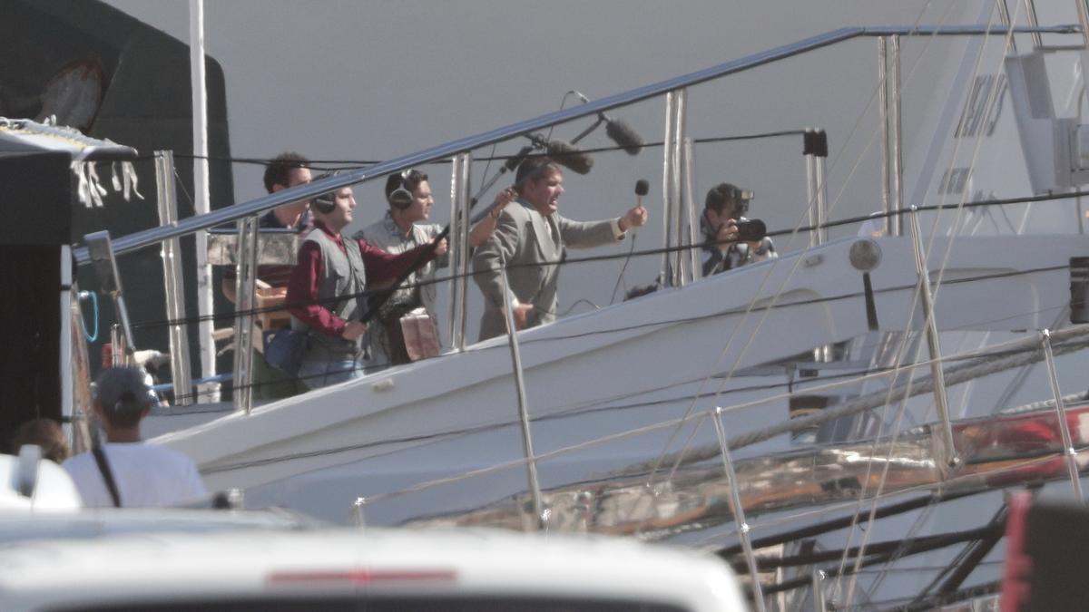 Rodaje de 'The Crown' en el Club de Mar de Palma