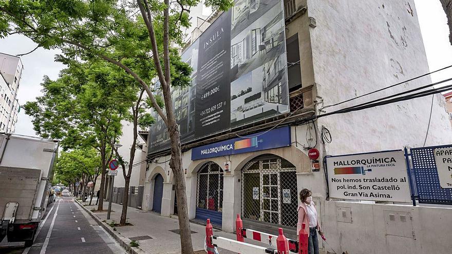 Mallorquímica, de tienda  de pinturas  a pisos desde 500.000 euros