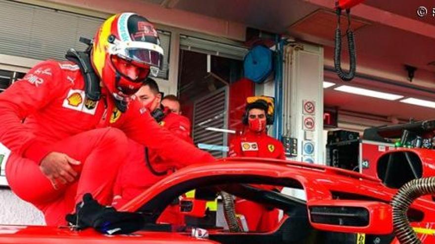 Carlos Sainz se estrena con Ferrari en Fiorano