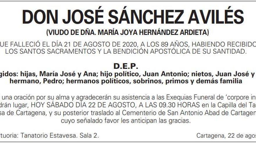 D. José Sánchez Avilés