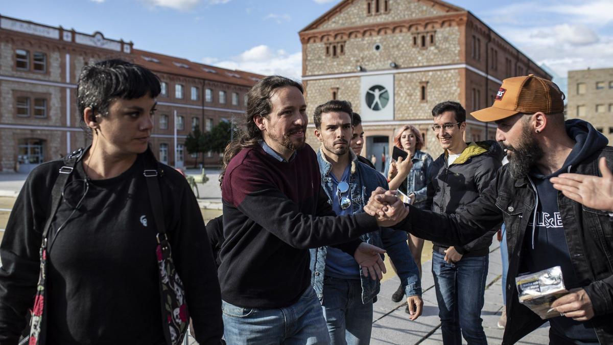 Pablo Iglesias, en el Campus Viriato, en 2019