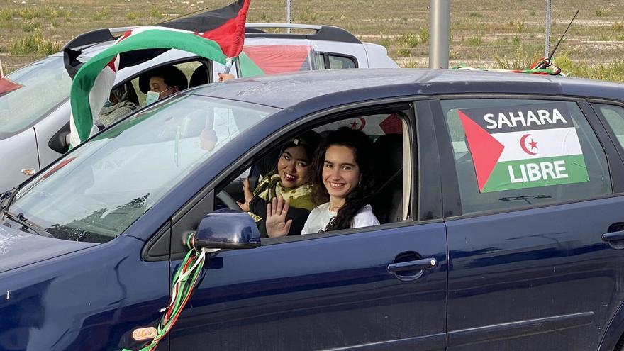 Una caravana por la libertad del Sáhara Occidental recorre Mallorca