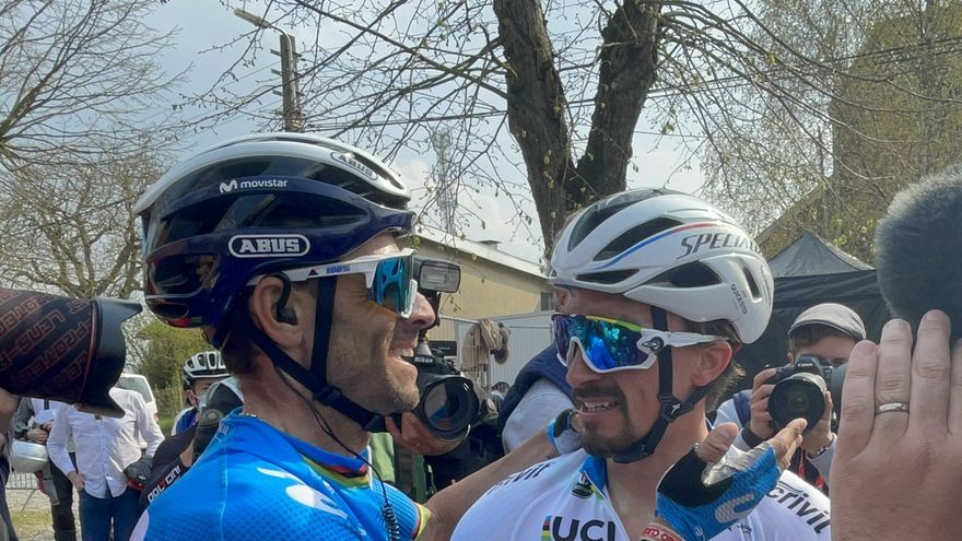 Alejandro Valverde, tercero en la Flecha Valona que gana Alaphilippe