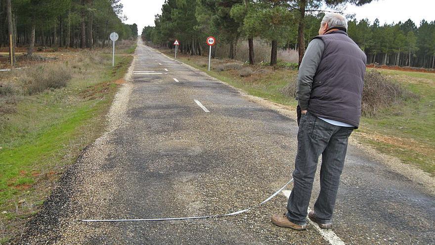 Villageriz pide el arreglo urgente de la carretera a Alcubilla dada su peligrosidad