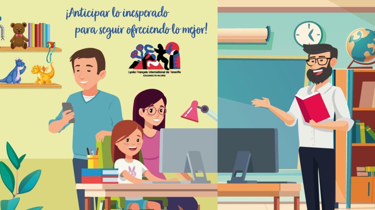 El Liceo Francés utiliza las nuevas tecnologías para garantizar el cumplimiento curricular