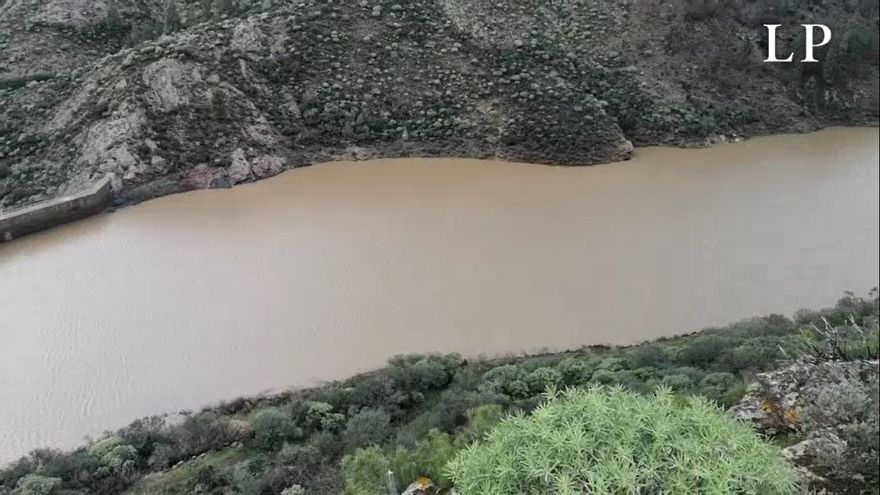 La presa de Candelaria, en Acusa, llena tras Filomena