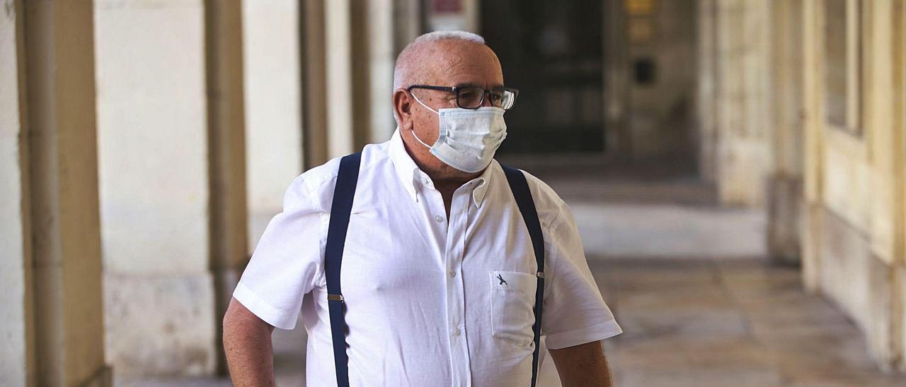 El empresario Ángel Fenoll el día que declaró en la Audiencia de Alicante en la causa del Plan General