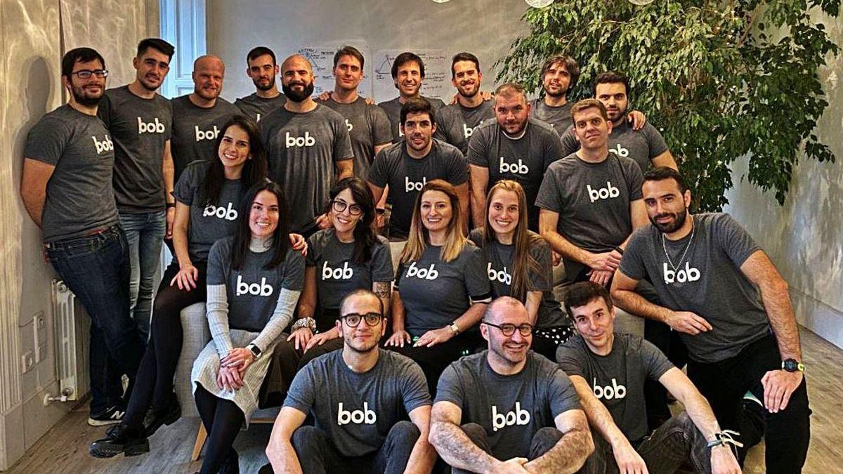 El equipo de Bob.io, la empresa de facturación a domicilio.