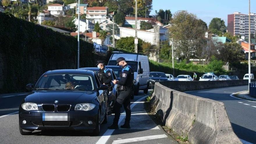 Control policial en Pontevedra
