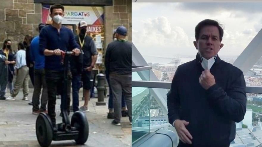 Tom Holland i Mark Wahlberg roden al Gòtic de Barcelona «Uncharted»