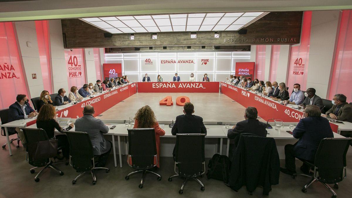 La reunión ejecutiva del PSOE previa al Congeso