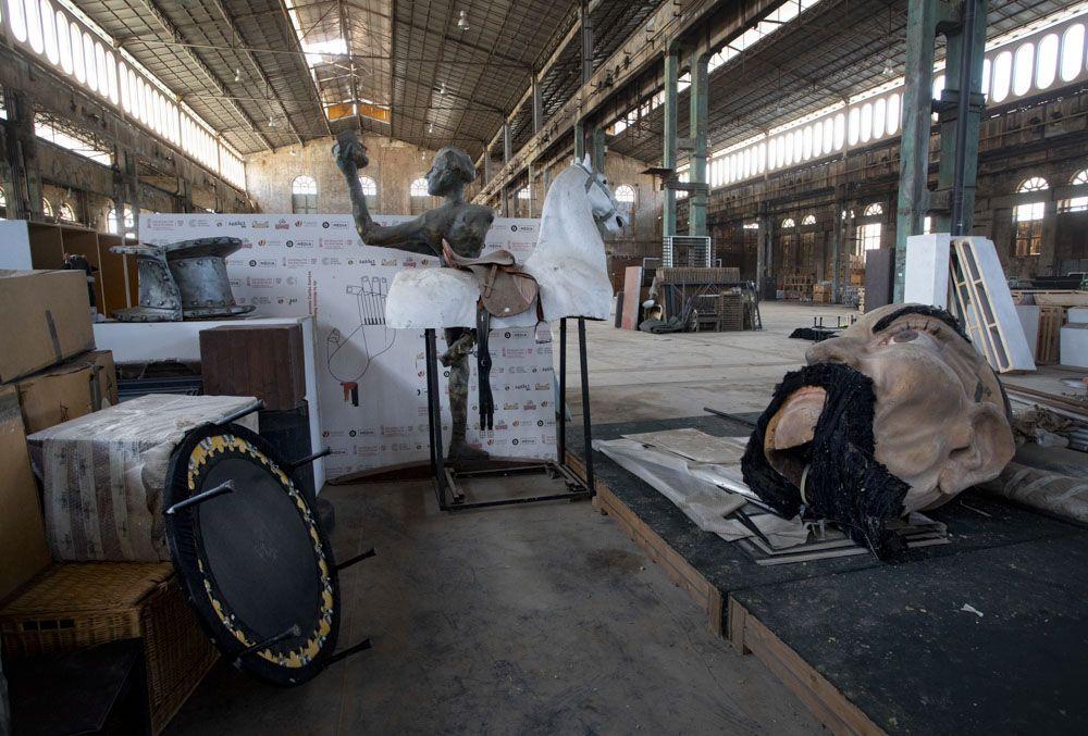La Nau del Port de Sagunt espera ser reacondicionada, tras años de ser usada como almacén.