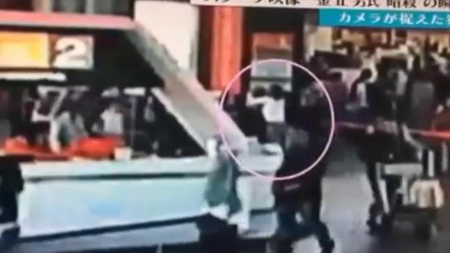 Una cámara captó el presunto asesinato de Kim Jong-nam