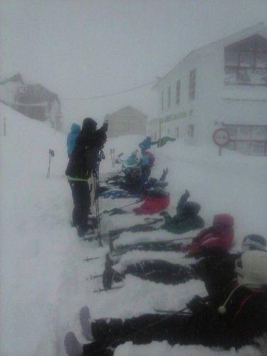Regreso a Bueu tras quedar atrapados en la nieve